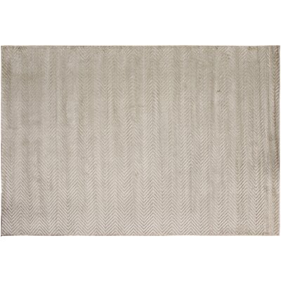 Siona Hand-Tufted Silk Silver Indoor Area Rug Rug Size: Rectangle 51 x 8