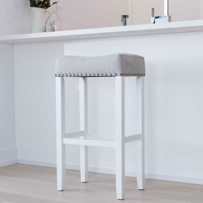 Firth Wood Kitchen Pub-Height Bar Stool Color: White