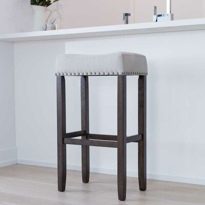 Firth Wood Kitchen Pub-Height Bar Stool Color: Dark Gray
