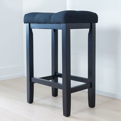 Firth Wood Kitchen Bar Stool Color: Piano Black