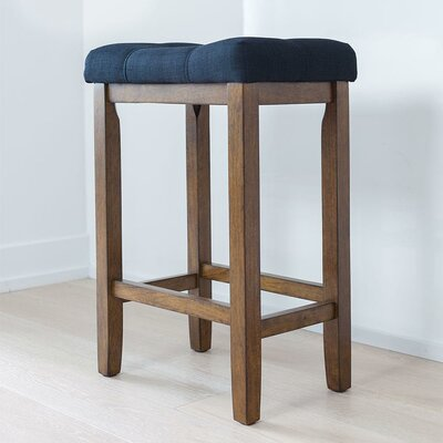 Firth Wood Kitchen Bar Stool Color: Walnut