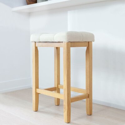 Firth Wood Kitchen Bar Stool Color: Natural