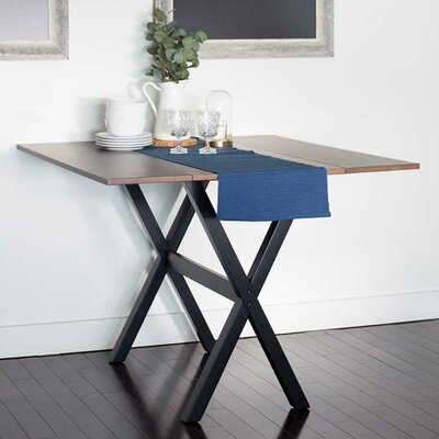 Warthen Solid Wood Extendable Drop Leaf Dining Table