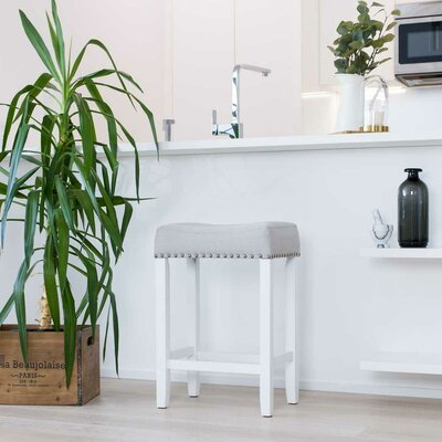 Firth Wood Kitchen Bar Stool Color: White