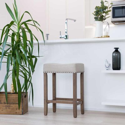Firth Wood Kitchen Bar Stool Color: Dark Sand