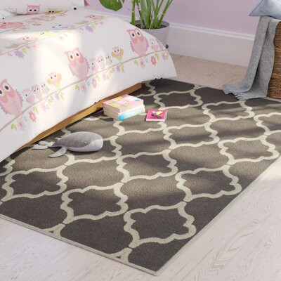 Bernadette Nature Cotton Brown Area Rug Rug Size: 4 8 x 6 7
