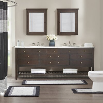 Monterey Bath Rug Size: 24 W x 60 L, Color: Black