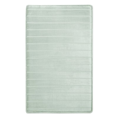 Palmateer Memory Foam Bath Rug Color: White, Size: 21 W x 34 L