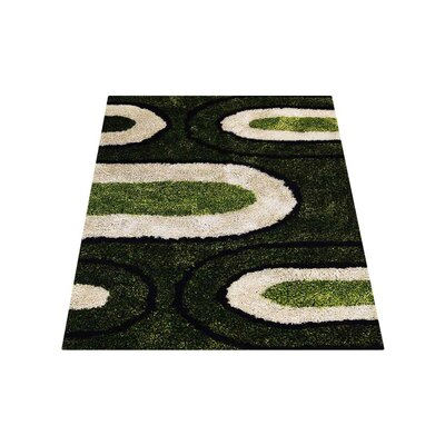 Wychwood Hand-Tufted Green/Beige Area Rug Rug Size: Rectangle 5' x 8'