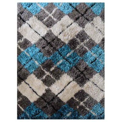 Henricks Hand-Tufted Blue/Gray Area Rug