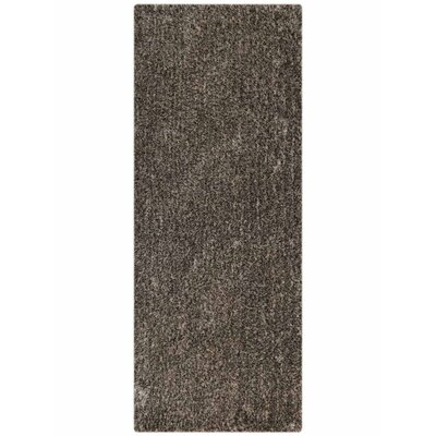 Henricks Hand-Tufted Gray Area Rug Rug Size: Runner 26 x 10