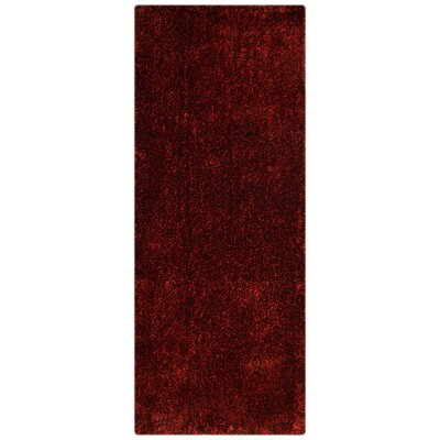 Henricks Hand-Tufted Red Area Rug