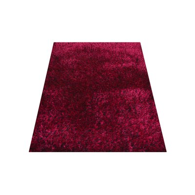 Henricks Hand-Tufted Pink Area Rug Rug Size: Rectangle 9 x 12