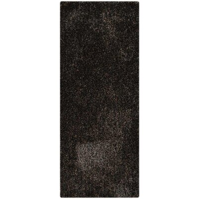 Henricks Hand-Tufted Black Area Rug Rug Size: Runner 26 x 8