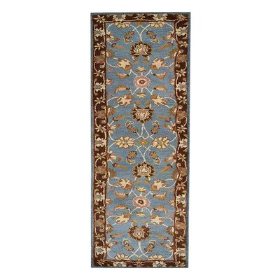 Minor Hand-Tufted Wool Blue/Brown Area Rug