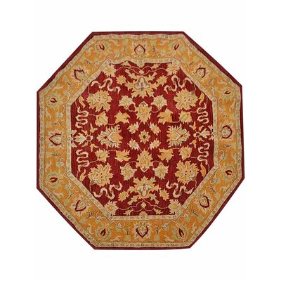 Minor Hand-Tufted Wool Red/Gold Area Rug