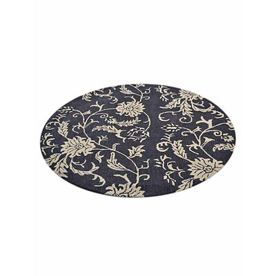 Minor Hand-Tufted Wool Charcoal/Beige Area Rug Rug Size: Round 10