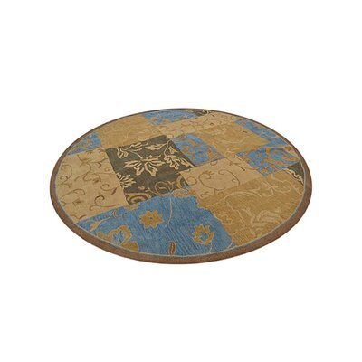 Crider Hand-Tufted Wool Brown Area Rug Rug Size: Round 10'