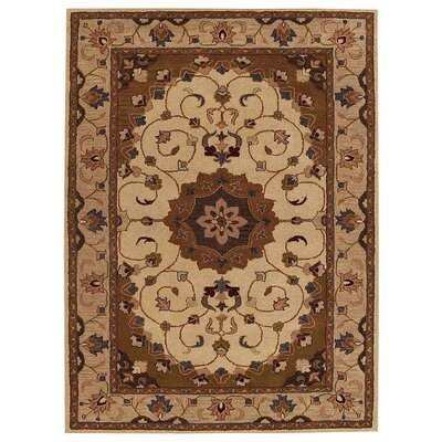 Minor Hand-Tufted Wool Cream/Beige Area Rug Rug Size: Rectangle 5 x 8