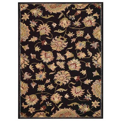 Creamer Hand-Tufted Black Area Rug Rug Size: Rectangle 3 x 5