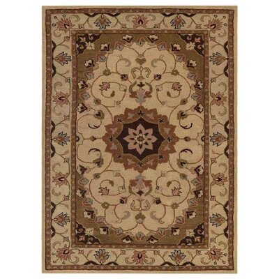 Creamer Hand-Tufted Cream/Brown Area Rug