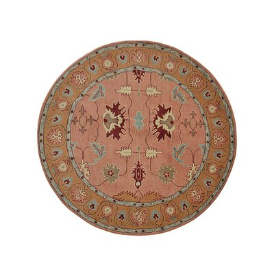 Hetzel Hand-Tufted Wool/Cotton Copper/Gold Area Rug