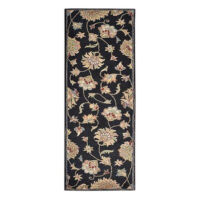 Creamer Hand-Tufted Black Area Rug Rug Size: Runner 26 x 8
