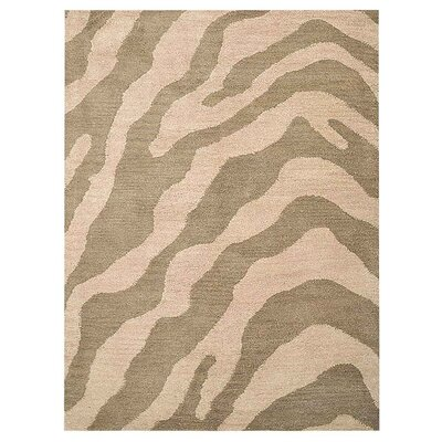 Hetzel Hand-Tufted Wool/Cotton Beige/Brown Area Rug Rug Size: Rectangle 5 x 8