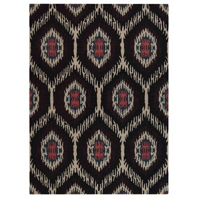 Crayton Hand-Tufted Wool/Cotton Brown/Beige Area Rug Rug Size: Rectangle 9 x 12
