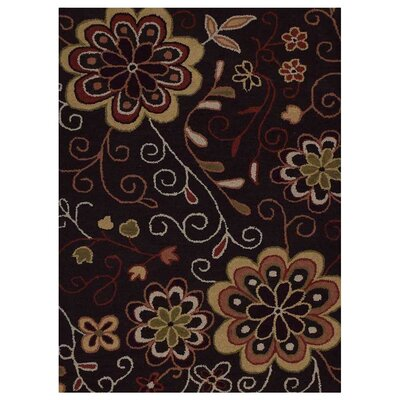 Campas Hand-Tufted Brown Area Rug Rug Size: Rectangle 8 x 11