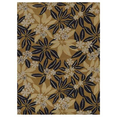 Campas Hand-Tufted Gold Area Rug Rug Size: Rectangle 9 x 12