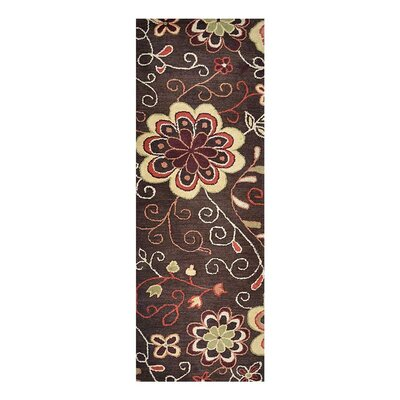 Campas Hand-Tufted Brown Area Rug Rug Size: Runner 26 x 8
