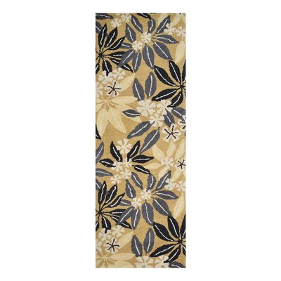 Campas Hand-Tufted Gold Area Rug Rug Size: Runner 26 x 8