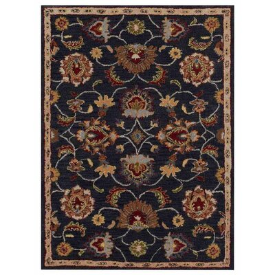 Creamer Hand-Tufted Charcoal Area Rug Rug Size: Rectangle 9 x 12