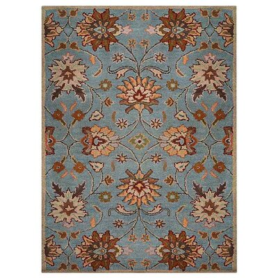 Creamer Hand-Tufted Light Blue Area Rug Rug Size: Rectangle 3 x 5