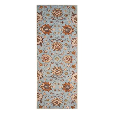 Creamer Hand-Tufted Light Blue Area Rug Rug Size: Runner 26 x 8