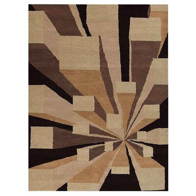 Hultgren Hand-Tufted Brown/Black Area Rug Rug Size: Rectangle 9 x 12