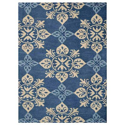 Creamer Hand-Tufted Blue Area Rug Rug Size: Rectangle 5 x 8