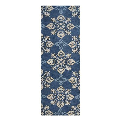 Creamer Hand-Tufted Blue Area Rug Rug Size: Runner 26 x 8