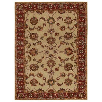 Creamer Hand-Tufted Beige/Red Area Rug