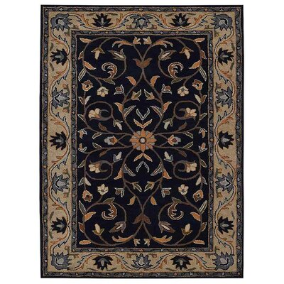 Creamer Hand-Tufted  Blue/Beige Area Rug Rug Size: Rectangle 4' x 6'