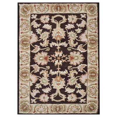 Creamer Hand-Tufted Brown/Beige Area Rug Rug Size: Rectangle 9 x 12