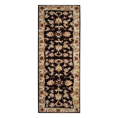 Creamer Hand-Tufted Brown/Beige Area Rug Rug Size: Runner 26 x 8