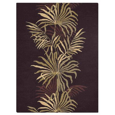 Campas Hand-Tufted Brown Area Rug Rug Size: Rectangle 5 x 8
