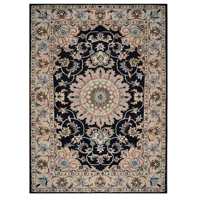 Creamer Hand-Tufted Black/Beige Area Rug