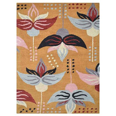 Johansson Hand-Tufted Gold Area Rug Rug Size: Rectangle 9 x 12