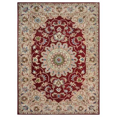 Creamer Hand-Tufted Red/Beige Area Rug