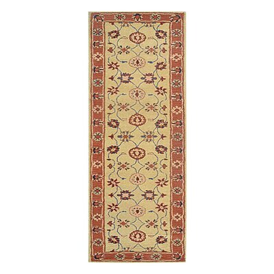 Creamer Hand-Tufted Gold rust/Ivory Area Rug Rug Size: Runner 26 x 10