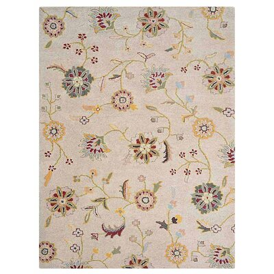 Creamer Hand-Tufted Cream Area Rug Rug Size: Rectangle 9 x 12