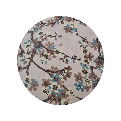 Creamer Hand-Tufted Wool/Cotton Beige Area Rug Rug Size: Round 8